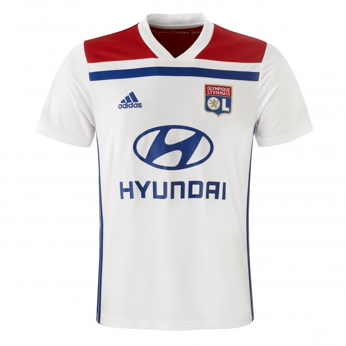 Lyon Home 2018/2019 Shirt. Club Football Shirts.