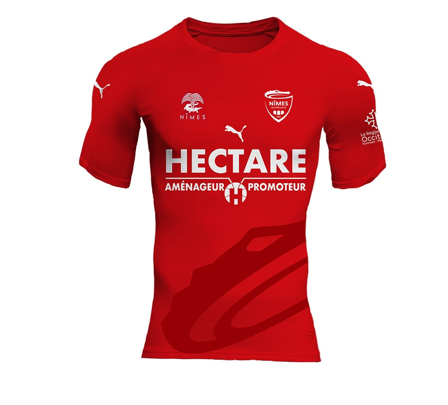 Nimes Home 2018/2019 Shirt. Club Football Shirts.