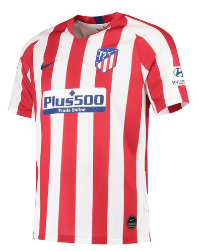 tlético Madrid Home 2019/2020 Shirt. Club Football Shirts.