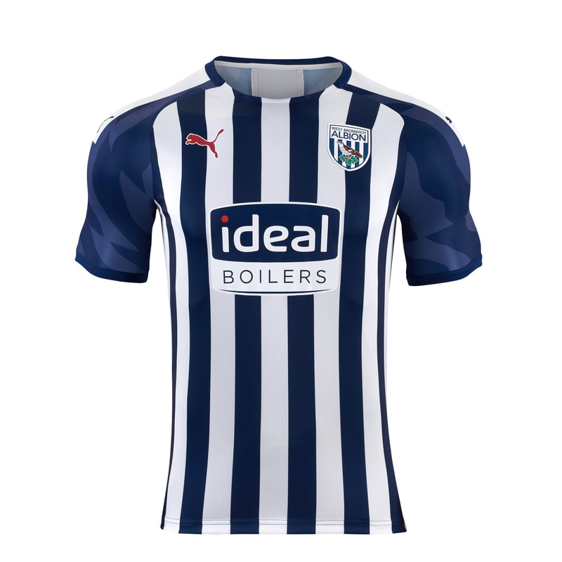West Bromich Albion Home 2019/2020 Shirt. Club Football Shirts.