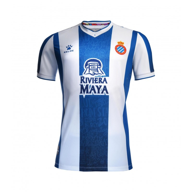 Espanyol Home 2019/2020 Shirt. Club Football Shirts.
