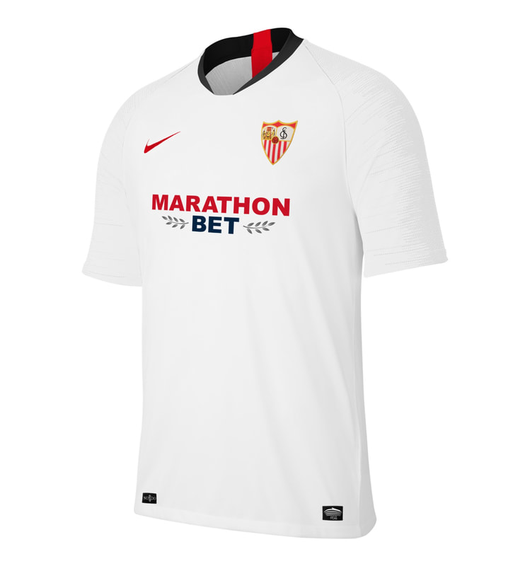 Sevilla Home 2019/2020 Shirt. Club Football Shirts.