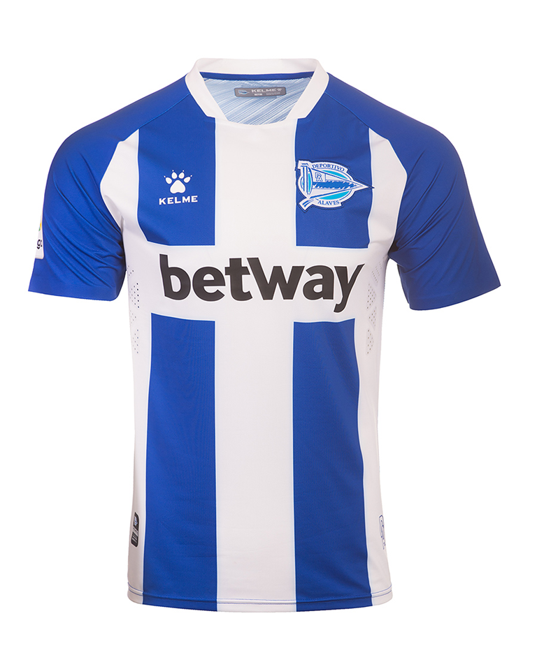 Alaves Home 2019/2020 Shirt. Club Football Shirts.