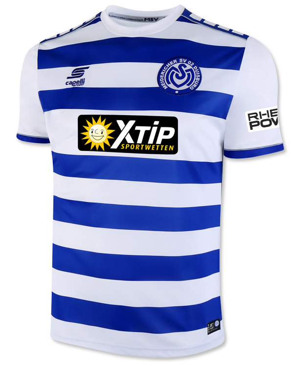 MSV Duisburg Home 2018/2019 Shirt. Club Football Shirts.