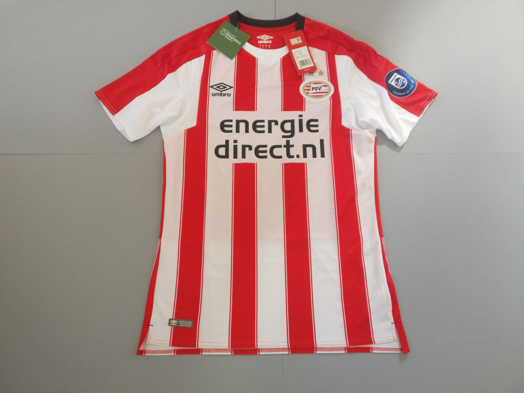 PSV Eindhoven Home 2017/2018 Football Shirt Manufactured By Umbro. The Club Plays Football In The Netherlands.