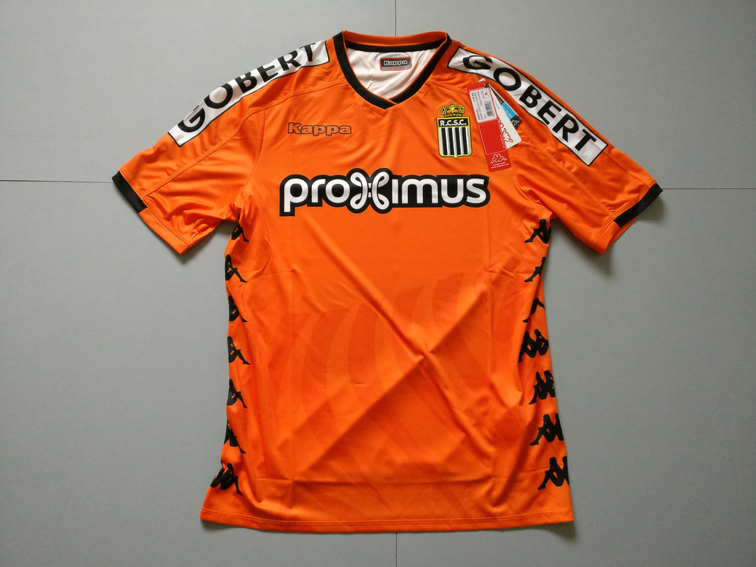 Royal Charleroi Sporting Club Away 2018/2019 Football Shirt Manufactured By Kappa. The Team Plays Football In Belgium.
