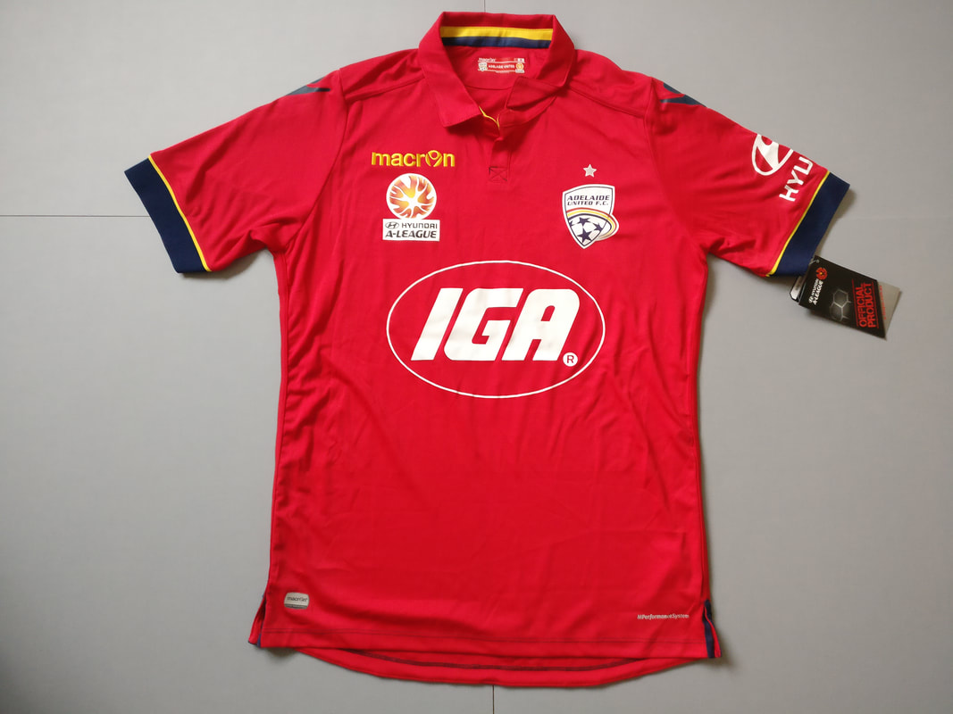 Adelaide United FC Home 2016/2017 Football Shirt Manufactured By Macron. The Team Plays Football In Australia.