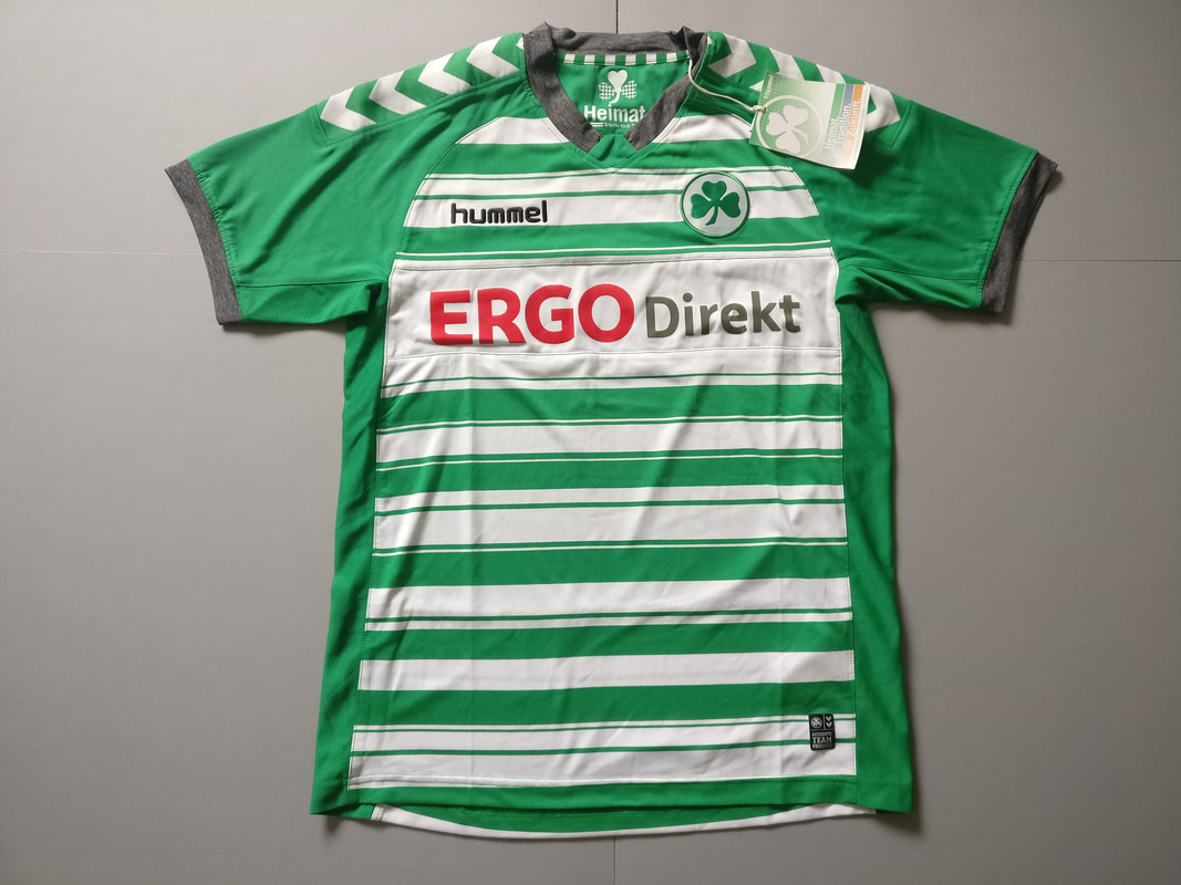 SpVgg Greuther Fürth Home 2013/2014 Football Shirt Manufactured By Hummel. The Club Plays Football In Germany.