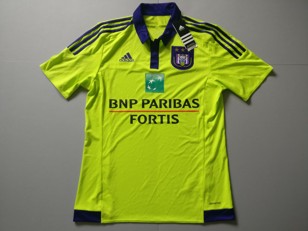 R.S.C. Anderlecht Away 2015/2016 Football Shirt Manufactured By Adidas. The Team Plays Football In Belgium.
