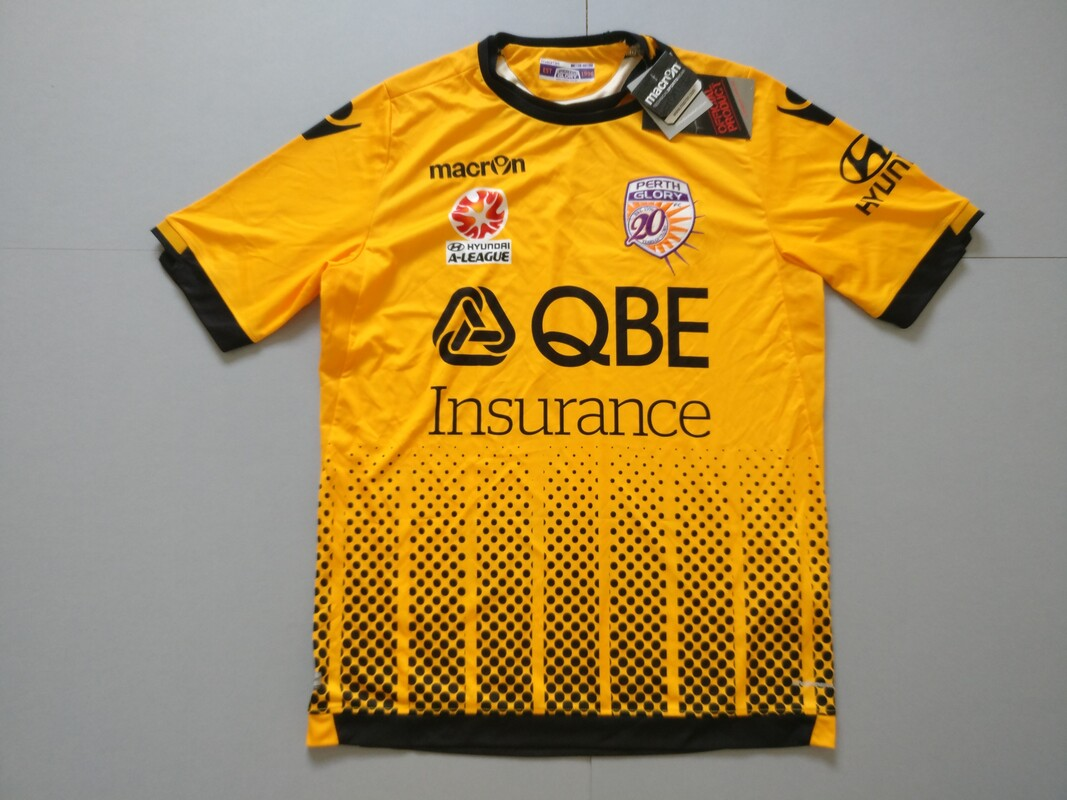 Perth Glory FC Away 2016/2017 Football Shirt Manufactured By Macron. The Team Plays Football In Australia.