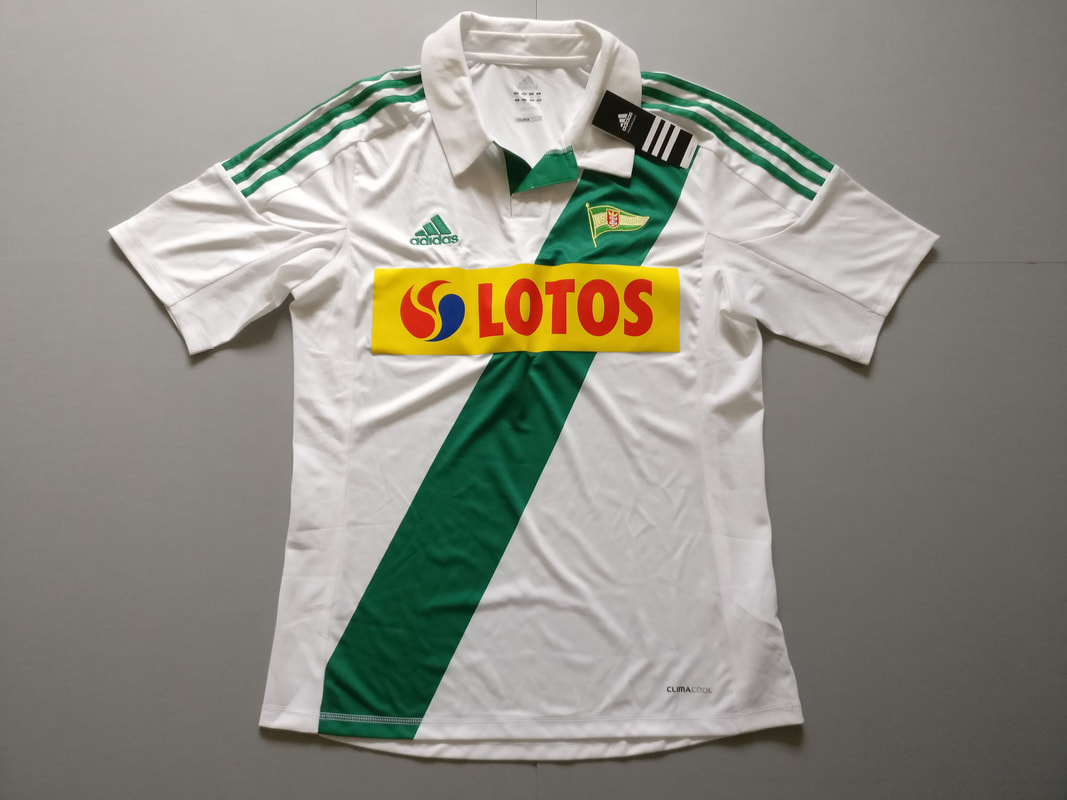 Lechia Gdańsk Home 2012/2013 Football Shirt Manufactured By Adidas. The Club Plays Football In Poland.