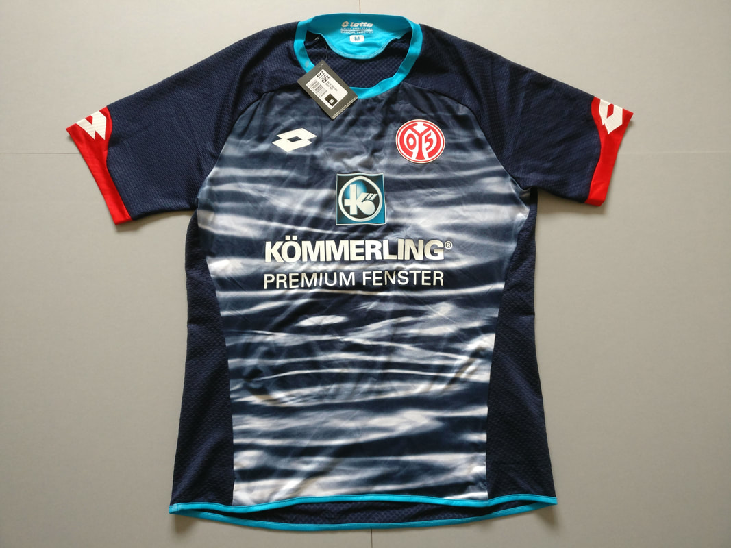 1. FSV Mainz 05 Third 2015/2016 Football Shirt Manufactured By Lotto. The Club Plays Football In Germany.