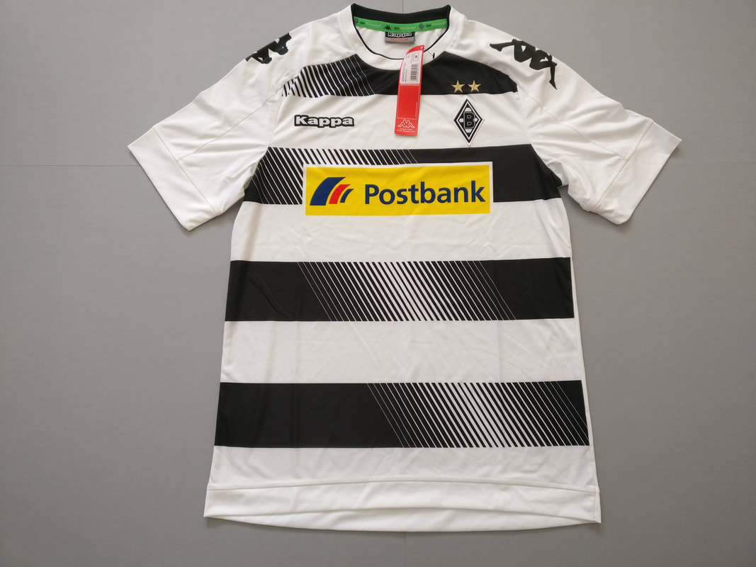 Borussia VfL 1900 Mönchengladbach e.V. Home 2016/2017 Football Shirt Manufactured By Kappa. The Club Plays Football In Germany.
