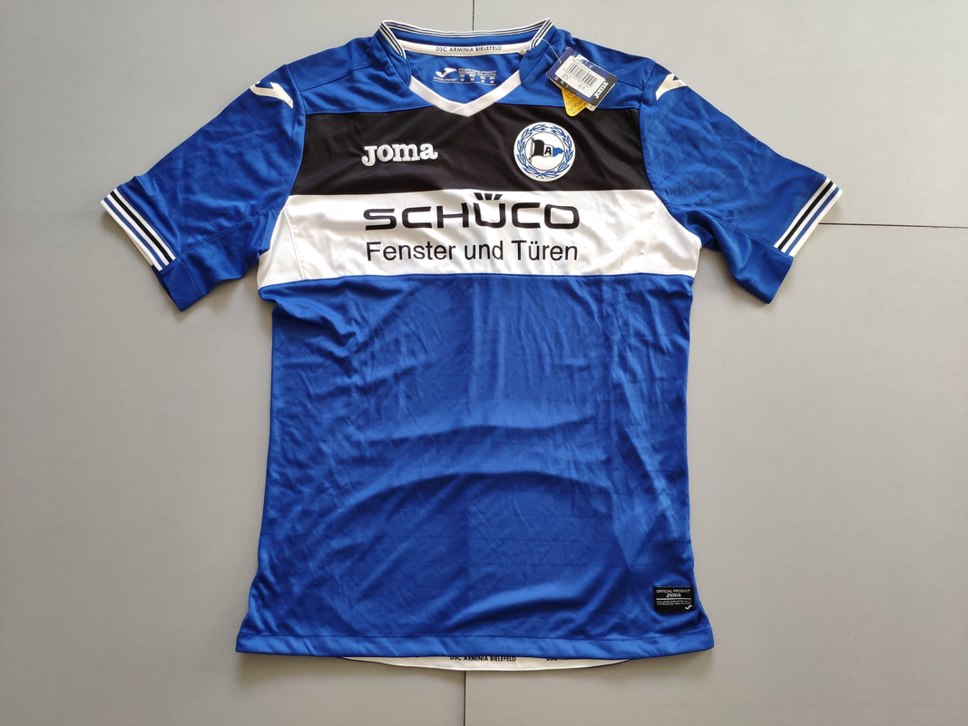 DSC Arminia Bielefeld Home 2017/2018 Football Shirt Manufactured By Joma. The Club Plays Football In Germany.