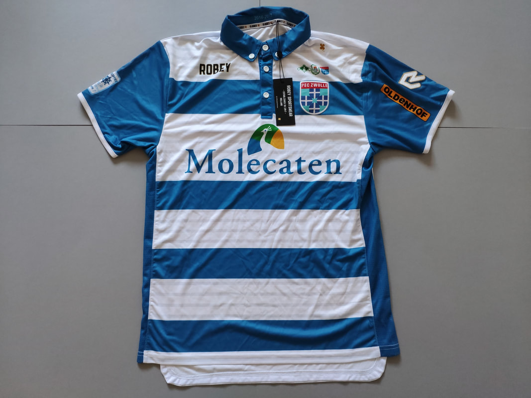 PEC Zwolle Home 2016/2017 Football Shirt Manufactured By Robey. The Club Plays Football In The Netherlands.