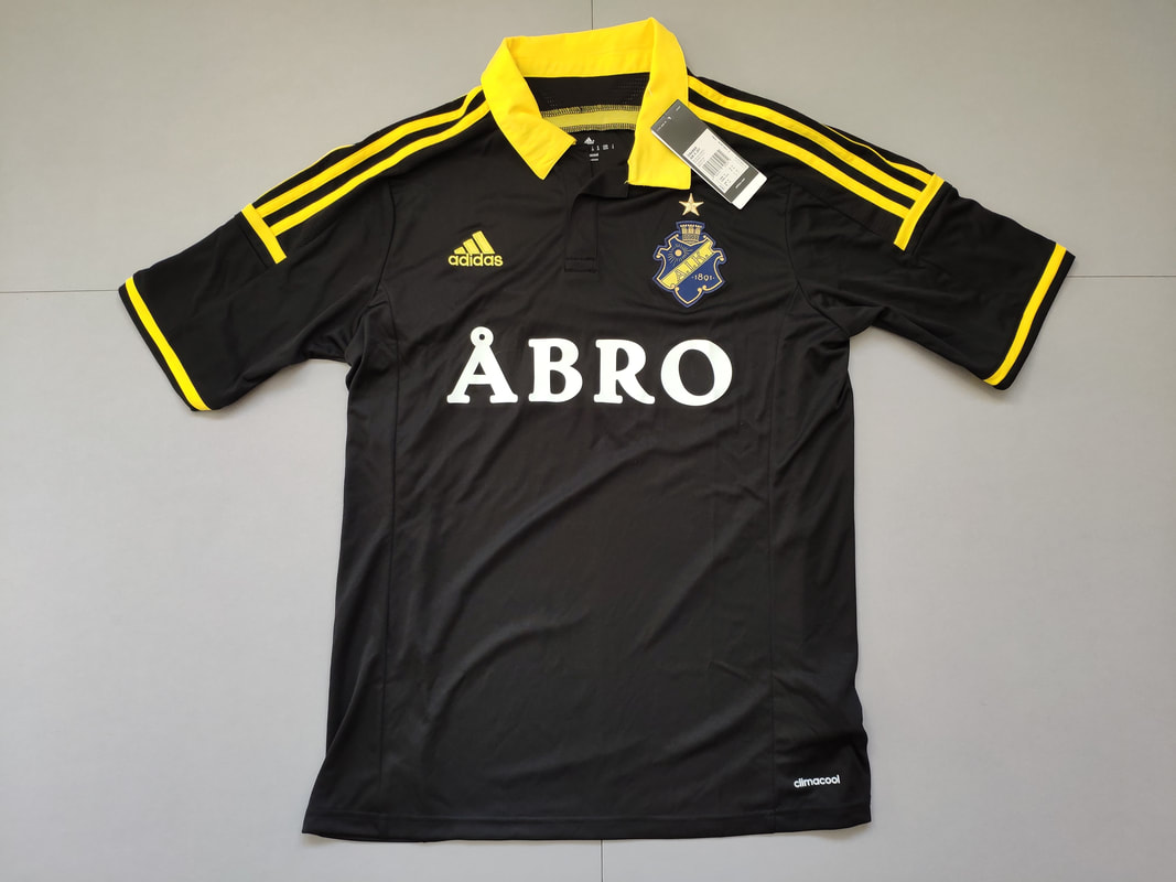 AIK Fotbol Home 2014/2015 Football Shirt Manufactured By Adidas. The Club Plays Football In Sweden.