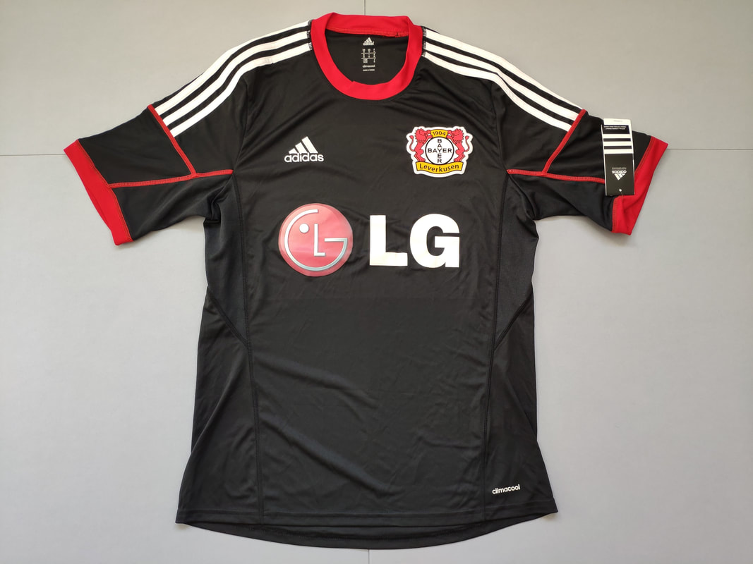 Bayer 04 Leverkusen Away 2014/2015 Football Shirt Manufactured By Adidas. The Club Plays Football In Germany.