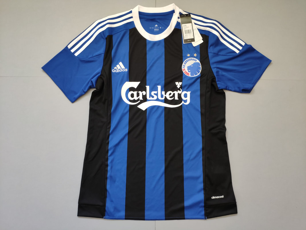 F.C. København Away 2015/2016 Football Shirt Manufactured By Adidas. The Team Plays Football In Denmark.