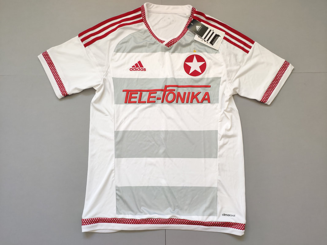 Wisła Kraków Away 2015/2016 Football Shirt Manufactured By Adidas. The Club Plays Football In Poland.