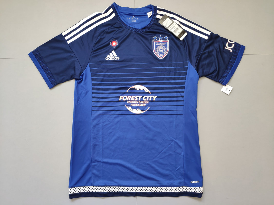 Johor Darul Ta'zim Football Club Home 2016 Football Shirt Manufactured By Adidas. The Team Plays Football In Malaysia.
