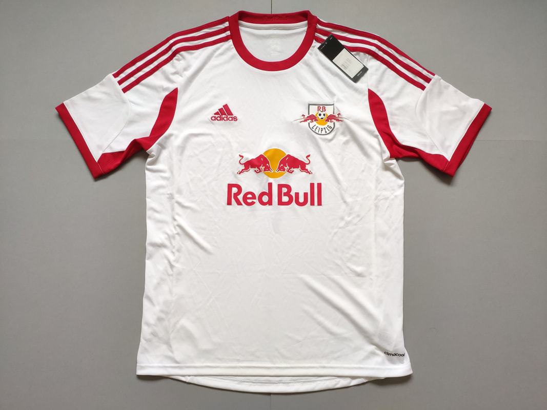 RasenBallsport Leipzig e.V Home 2013/2014 Football Shirt Manufactured By Adidas. The Club Plays Football In Germany.