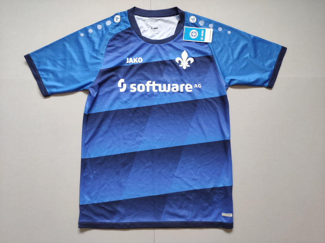 SV Darmstadt 98 Home 2016/2017 Football Shirt Manufactured By Jako. The team plays football in Germany.