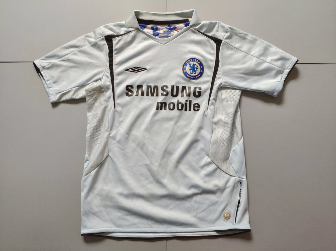 Chelsea F.C. Away 2005/2006 Football Shirt Manufactured By Umbro. The Shirt Was Sponsored By Samsung Mobile.