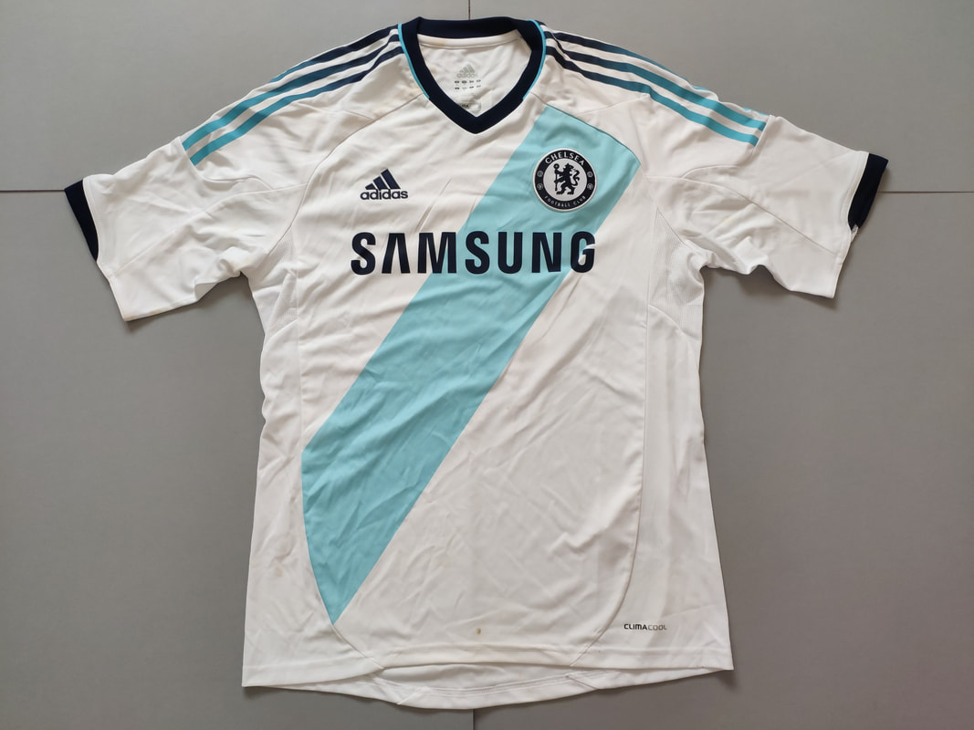 Chelsea F.C. Away 2012/2013 Football Shirt Manufactured By Adidas. The Shirt Is Sponsored By Samsung.