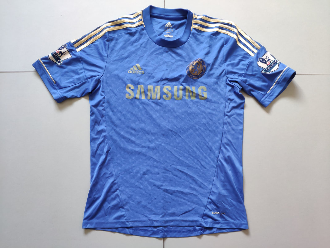 Chelsea F.C. Home 2012/2013 Football Shirt Manufactured By Adidas. The Shirt Is Sponsored By Samsung.