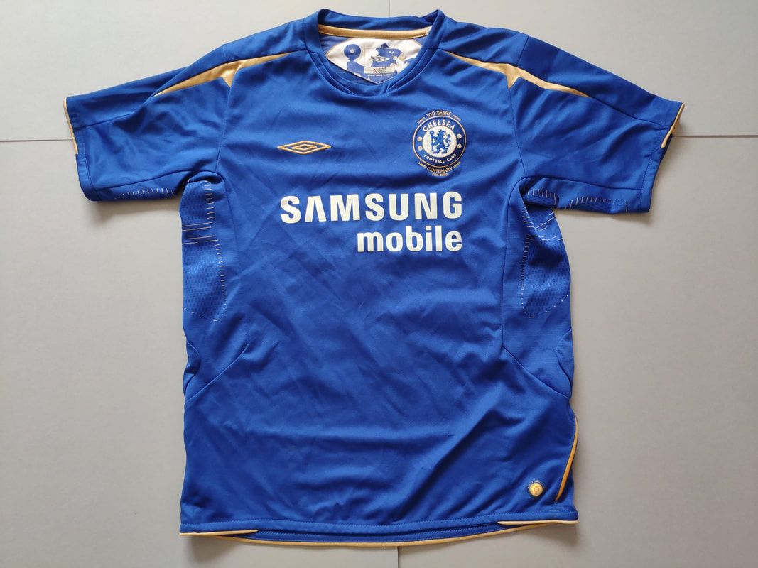 Chelsea F.C. Home 2005/2006 Football Shirt Manufactured By Umbro. The Shirt Was Sponsored By Samsung Mobile.