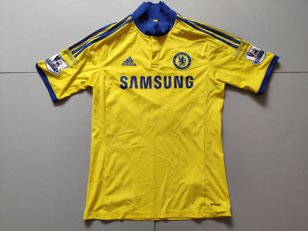 Chelsea F.C. Away 2014/2015 Football Shirt Manufactured By Adidas. The Shirt Is Sponsored By Samsung.