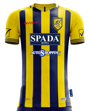 Juve Stabia Home 2019/2020 Football Shirt Manufactured By Givova. The Club Plays Football In Italy.