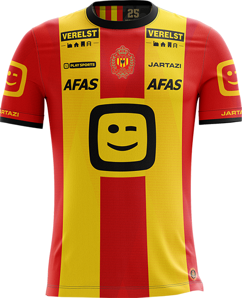 Mechelen Home 2020/2021 Football Shirt Manufactured By Jartazi. The Club Plays Football In Belgium.
