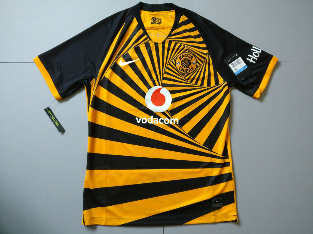 Kaizer Chiefs F.C. Home 2019/2020 Football Shirt Manufactured By Nike. The Team Plays Football In South Africa.