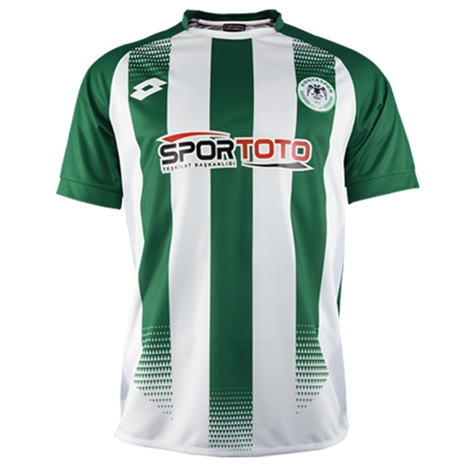 Konyaspor Home 2020/2021 Football Shirt Manufactured By Lotto. The Club Plays Football In Turkey.
