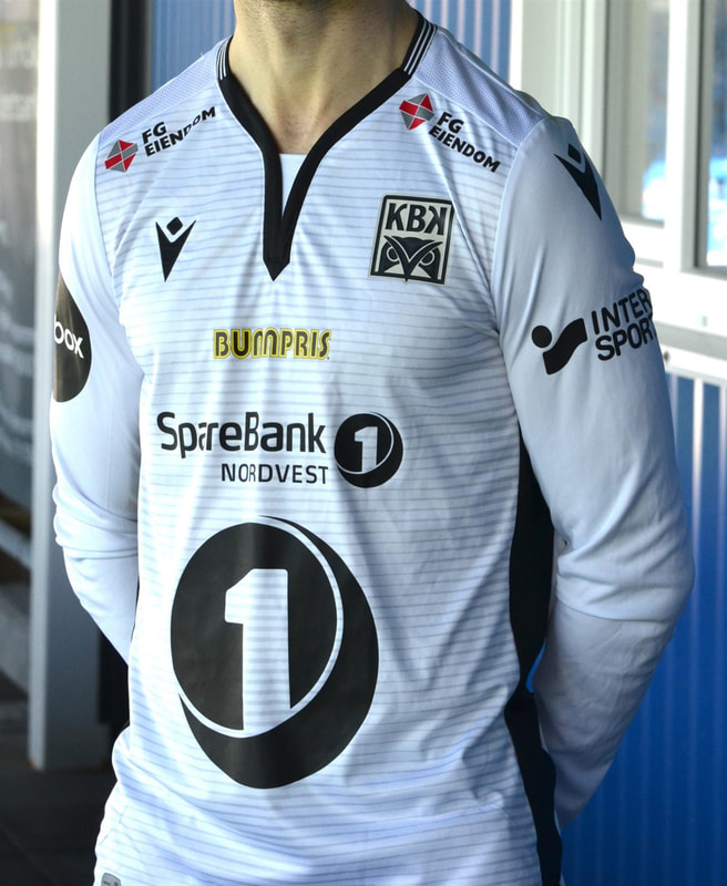 Kristiansund Away 2020 Football Shirt Manufactured By Macron. The Club Plays Football In Norway.