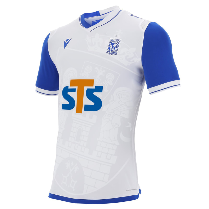 Lech Poznań Away 2020/2021 Football Shirt Manufactured By Macron. The Club Plays Football In Poland.