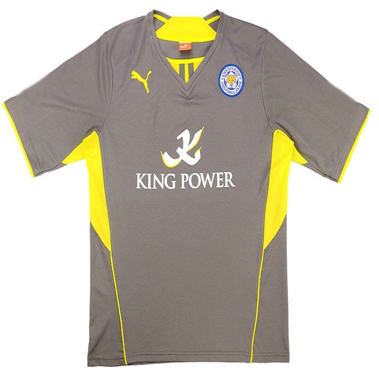 Leicester City Away 2013/2014 Football Shirt Manufactured By Puma. The Club Plays Football In England.