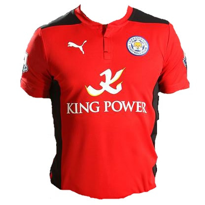 Leicester City Away 2014/2015 Football Shirt Manufactured By Puma. The Club Plays Football In England.