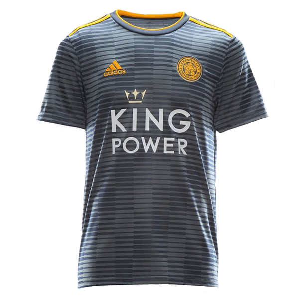 Leicester City Away 2018/2019 Football Shirt Manufactured By Adidas. The Club Plays Football In England.