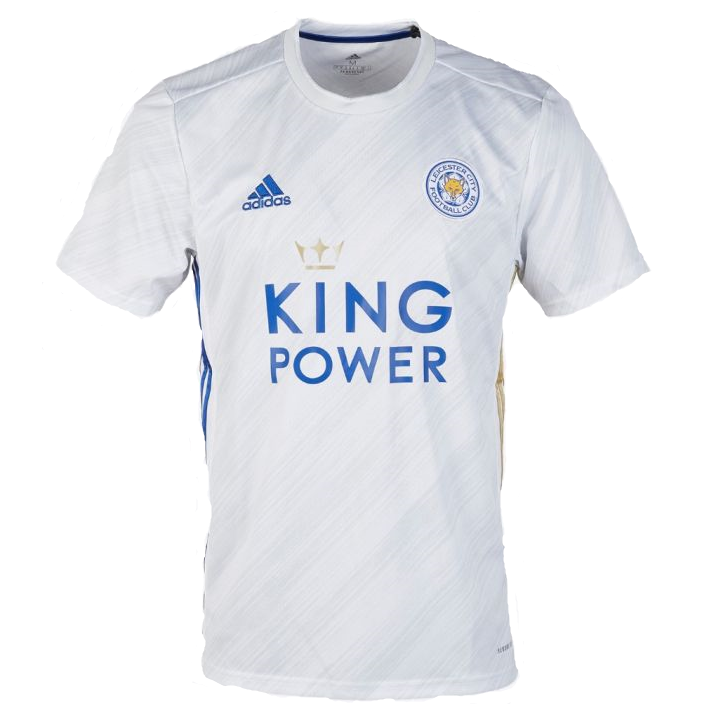 Leicester City Away 2020/2021 Football Shirt Manufactured By Adidas. The Club Plays Football In England.