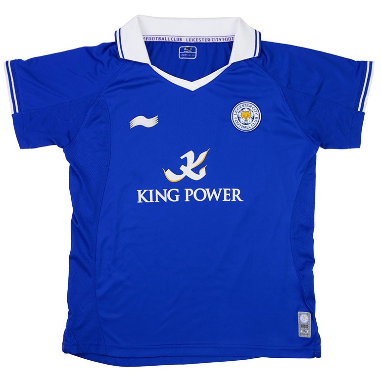 Leicester City Home 2011/2012 Football Shirt Manufactured By Burrda. The Club Plays Football In England.