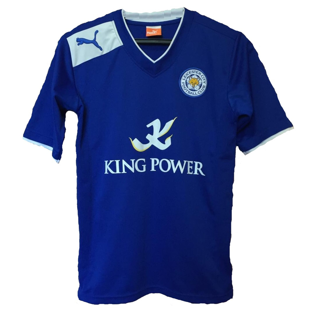 Leicester City Home 2012/2013 Football Shirt Manufactured By Puma. The Club Plays Football In England.