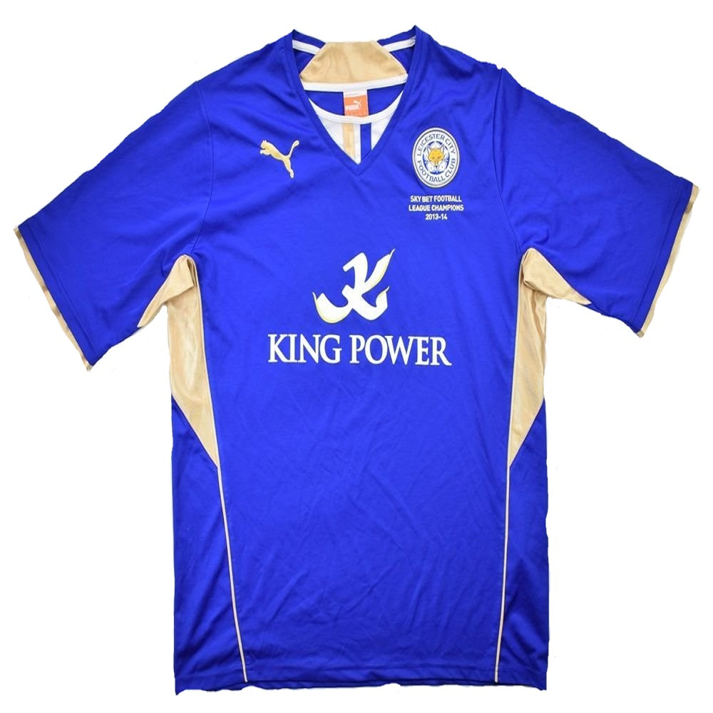 Leicester City Home 2013/2014 Football Shirt Manufactured By Puma. The Club Plays Football In England.