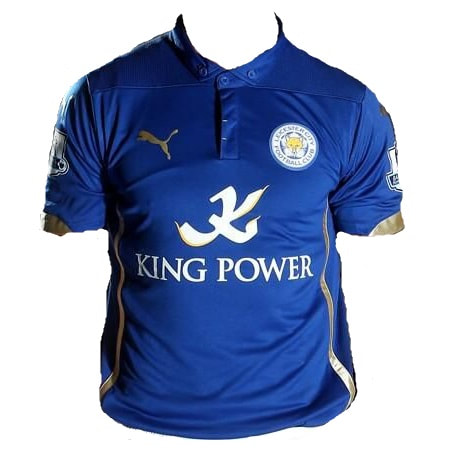 Leicester City Home 2014/2015 Football Shirt Manufactured By Puma. The Club Plays Football In England.