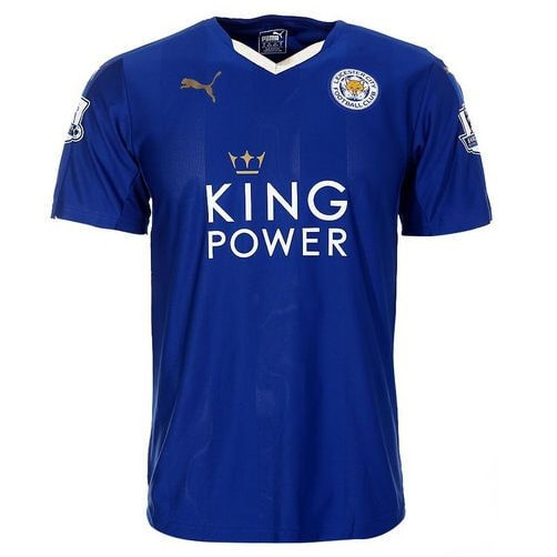 Leicester City Home 2015/2016 Football Shirt Manufactured By Puma. The Club Plays Football In England.