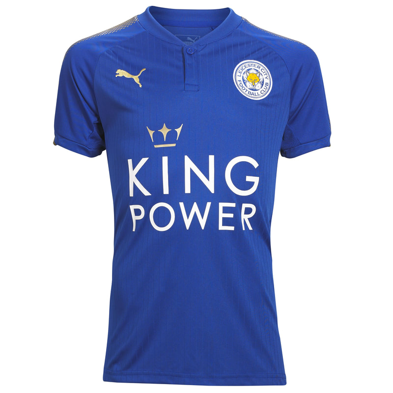 Leicester City Home 2017/2018 Football Shirt Manufactured By Puma. The Club Plays Football In England.