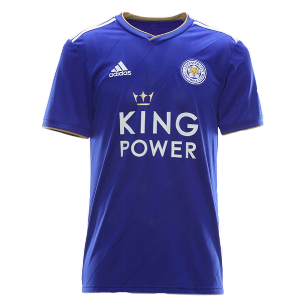 Leicester City Home 2018/2019 Football Shirt Manufactured By Adidas. The Club Plays Football In England.
