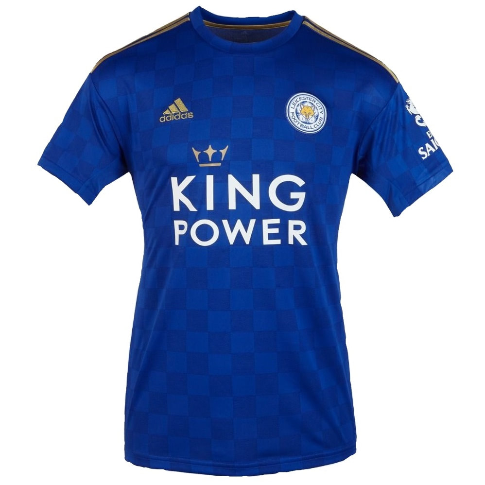 Leicester City Home 2019/2020 Football Shirt Manufactured By Adidas. The Club Plays Football In England.