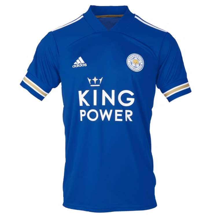 Leicester City Home 2020/2021 Football Shirt Manufactured By Adidas. The Club Plays Football In England.